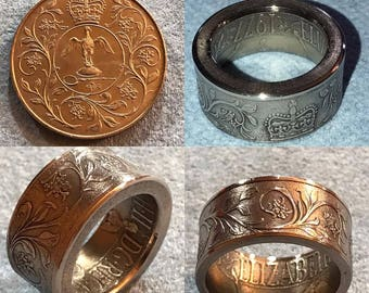 1977 Queen Elizabeth Silver Jubilee Coin Ring
