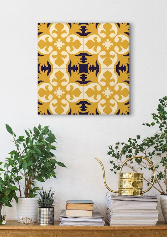 French country print Canvas print Vintage decor geometric