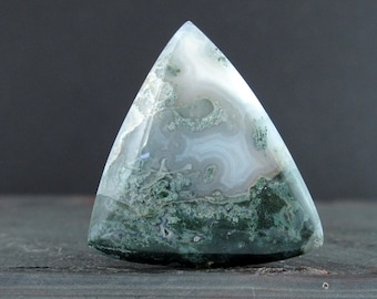 Gorgeous Triangle  moss agate  cabochon, NAtural stone, Jewelry making supplies  S7521
