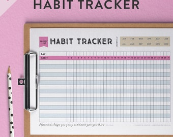 Printable Habit Tracker   Habit Tracker A5   Habit Tracker PDF   Habit Tracker Insert