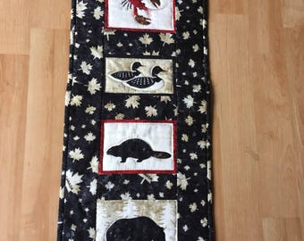 Canadian Critters Wallhanging 4 piece