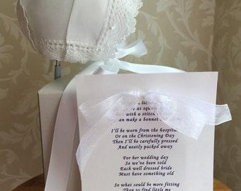 Harper w/pearls Handkerchief Bonnet
