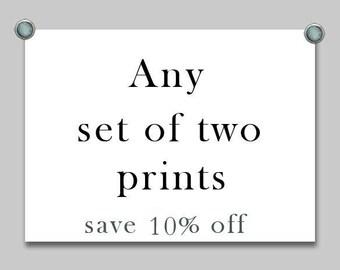 Discount prints Set of two photos Fine Art Photography Set of two prints Sale Any two prints Custom print sets Photography sale Print sale