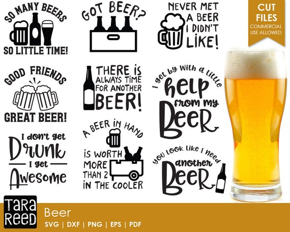 Funny Beer Drinking Quotes: Beer Svg / Beer Humor Svg / Beer Svg Bundle / Beer Sayings Svg