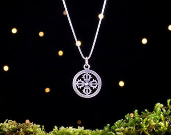 Sterling Silver Double Vajra, Tibetan Dorje - (Pendant Only or Necklace)