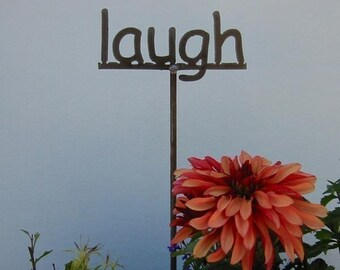 Metal Garden Stake Sign Your choice 53 words to choose from - 19 Inches Tall