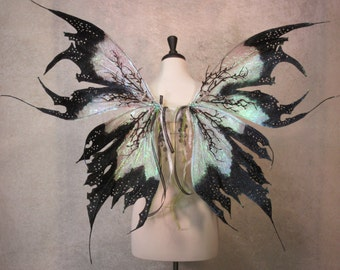 Made to  Order - Adult Iridescent Dark Fairy Absinthe Fairy Wings