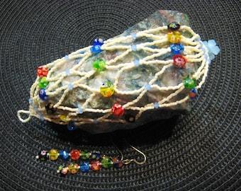Lampwork and Crystal Bracelet
