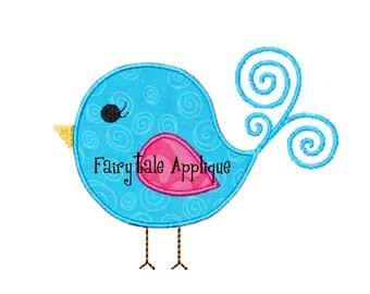Digital Machine Embroidery Design -  Birdie Applique