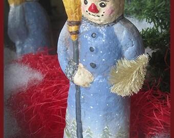 Vintage Style Paper Mache Snowman
