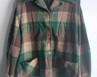 Vintage Pendleton Plaid Jacket Women's Size M/L