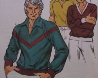 UNCUT and FF Pattern Pieces Vintage Kwik Sew 997 Sewing Pattern Sizes 34-36-38-40 Chest Sizes Men's Shirts