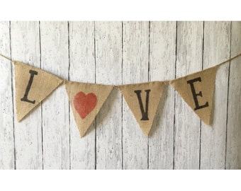 Diy kit all the glitters is love valentines day sign diy kit love burlap banner create your own craft kit valentines day banner gold burlap wedding photo photo prop valentines solutioingenieria Choice Image