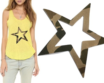 Iron On STAR Patch Applique for DIY Fashion Crafts