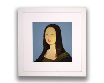 Acrylic picture frame and Mona Lisa