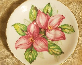 Pink Trillium Royal Stafford Bone China Saucer