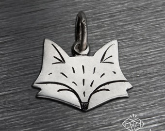 Fox Jewelry, Fox Charm, Fox Necklace, Silver Fox Jewelry, Sterling Silver Fox Necklace, Silver Charm, Sterling Silver Fox Charm, Silver Fox
