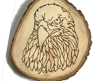 Eagle Plaque on Basswood Round