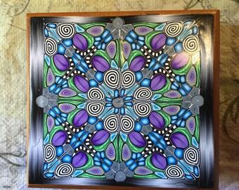 Moody Blue Upcycled Cigar Box UCB0001-16
