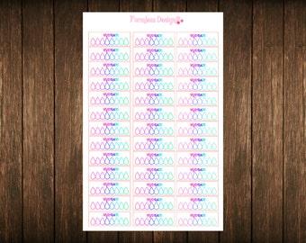 24 Hydrate Planner Stickers-For Erin Condren/Filofax/Kikki