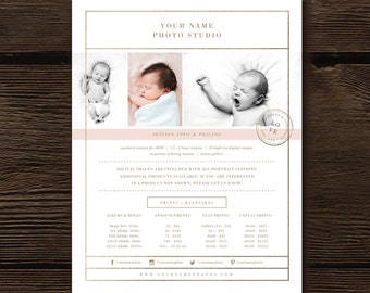 Newborn Photographer Templates - Price List - Photography Pricing Guide - Photo Session Investment Templates