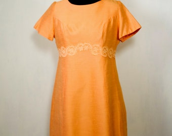 Alfred Weber Apricot coat and dress suit, Vintage 60's, Large to XL
