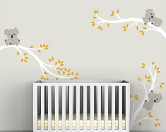 Kids Wall Decals Tree Branches Koala Baby Girl Room Decor