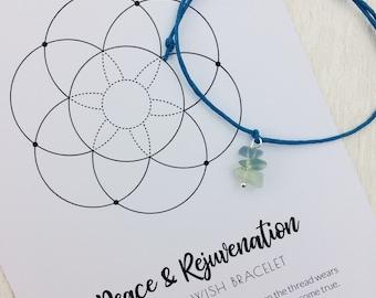 Fluorite Wish bracelet, yoga lover gift, yoga retreat favour, yoga bracelet, healing crystals, boho gift ideas, power bracelet, study aid