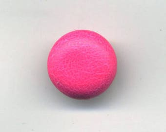 Neon pink, fabric button vinyl, 12 mm