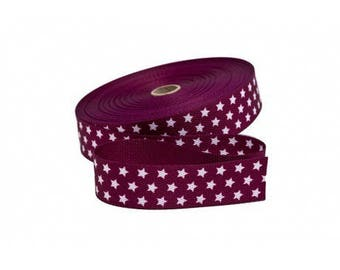 30mm Garnet cotton strap cut from 50 cm