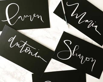 Custom Calligraphy Name Cards