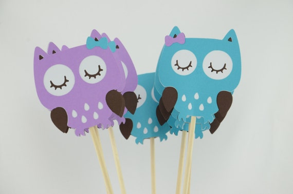 how to make owl centerpieces