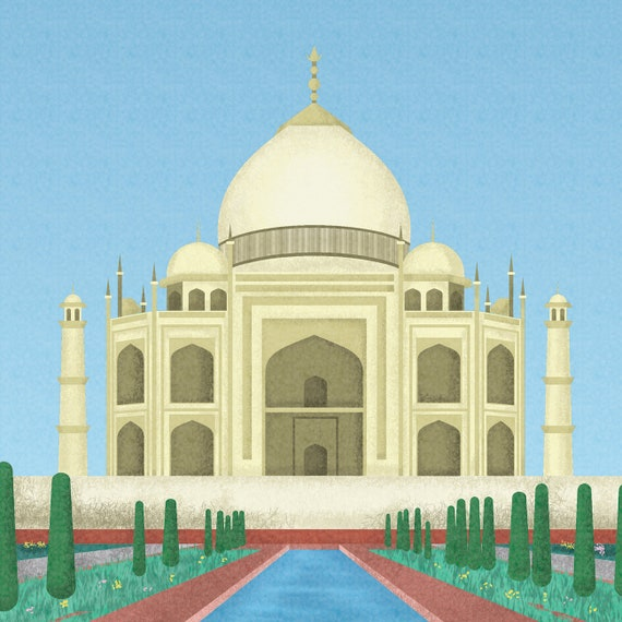 India Print India Skyline India Art India Poster India