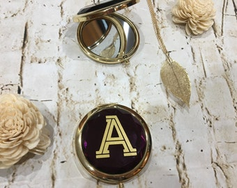 Personalized Bridesmaid Gifts Unique Bridal Party Gifts for Maid of Honor Personalized Gifts for Women Compact Mirror