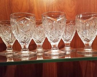 Vintage Glassware Liquer Glasses Sherry Cordials Aperitifs