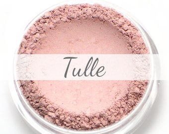 "Eyeshadow Sample - ""Tulle"" - matte light ballet pink color - all natural vegan mineral makeup"