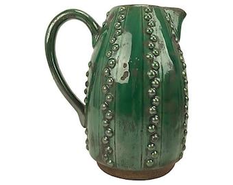 Emerald Green Decorative Pitcher