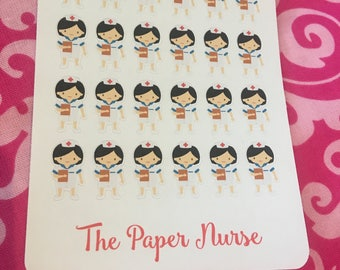 Nurse Sticker for use with Erin Condren Life Planner, Happy Planner, Kate Spade, Filofax.