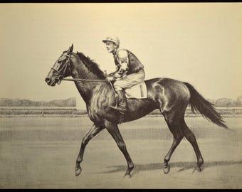 Horse Racing Print Horse Wall Art Horse Wall Decor