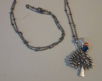 Charming tree and bead necklace