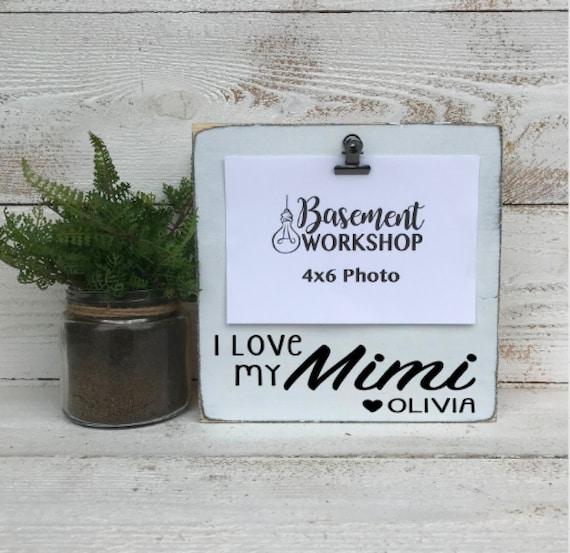 Personalized grandma frame - I love my Mimi - custom picture frame ...