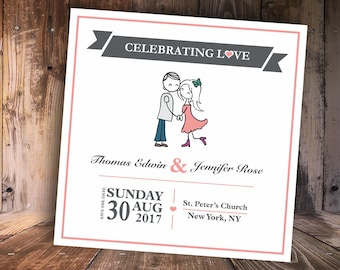 Celebrating Love Save-the-Date Card Postcard