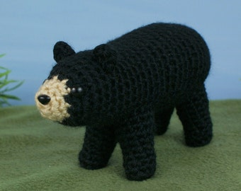 PDF Black Bear amigurumi CROCHET PATTERN