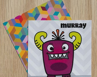 "Replacement Card ""Murray"" — Oh Those Monsters: Memory Game"