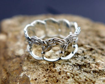 Kelp Ring - Marine Biology - Beach Jewelry - Science Jewelry - Ocean Ring - Seaweed Ring - Biology Gift - Beach Wedding