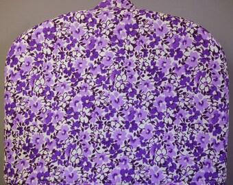 Violet Floral Vines Print Tea Cozy Size Small