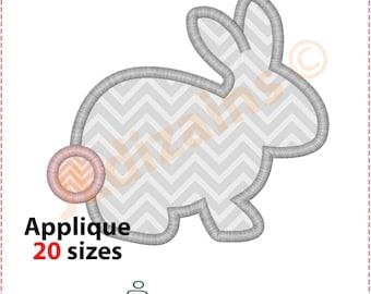 Bunny Applique Design. Bunny embroidery design. Rabbit embroidery. Easter bunny applique. Rabbit applique. Machine embroidery design.