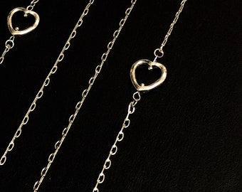 SALE Heart Cluster Charm Necklace