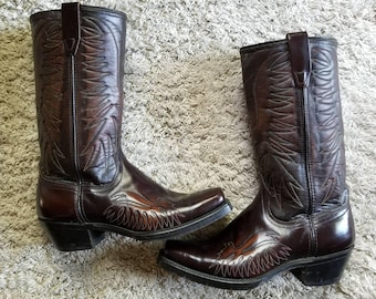 Eagle embroidered wrangler boots