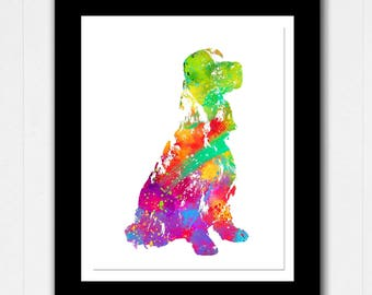 Custom Dog Art Abstract Watercolor Print - Buy 2 Get 1 FREE